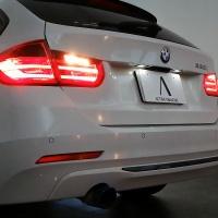 BMW F系 リバース時ナンバー灯減光